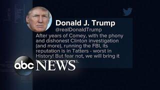 Trump fires back in tweets targeting FBI leadership