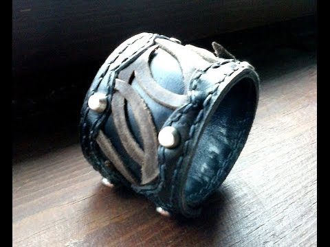 Making a Leather Cuff for Men