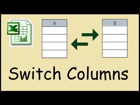 How to switch two columns in Excel