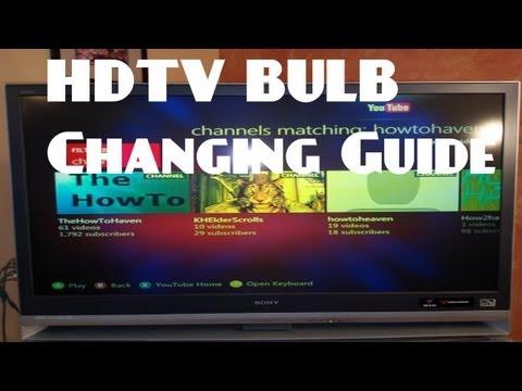 How To Change Bulb Housing For An HDTV - Sony Wega XL-2400