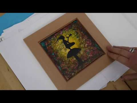 Make a Framed, Decorated Tile with Waterslide Decal and Alcohol Inks