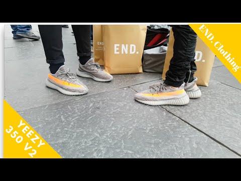 Yeezy 350 V2 Beluga Newcastle End Clothing (On Feet)