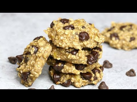 3 Ingredient Banana Oatmeal Chocolate Chip Cookies