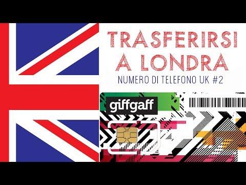 TRASFERIRSI A LONDRA   Numero di telefono UK #2   SIM CARD GRATIS   GIFFGAFF   London Life