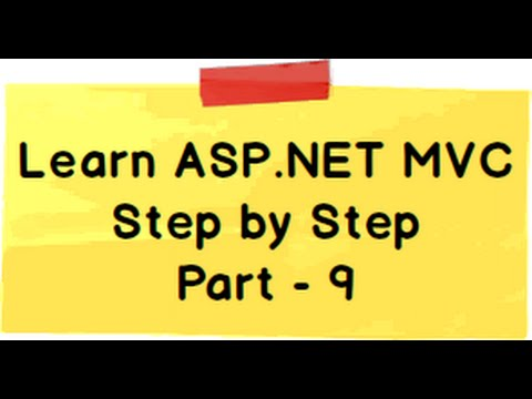 ASP.NET MVC Model View Controller (MVC) Step by Step Part 9