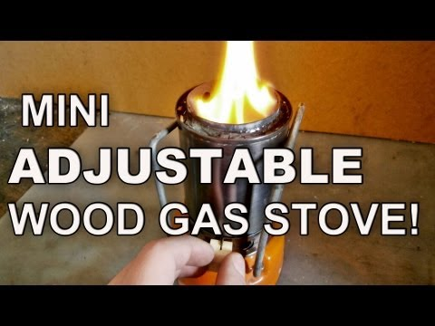Mini Adjustable Wood Gas Stove!
