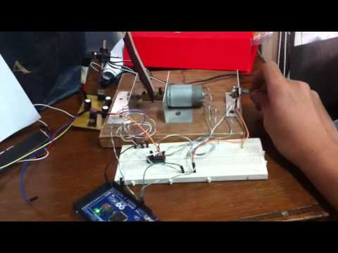 PID DC motor position control using Arduino