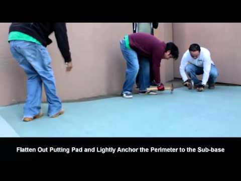 Instructional Video: Artificial Turf Putting Green Installation