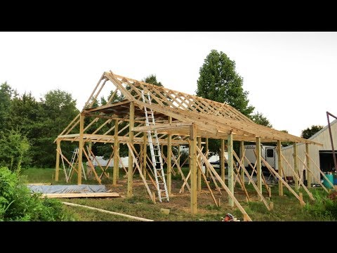 Pole Barn Construction (Part 2: Pole Barn Framing)  | Useful Knowledge