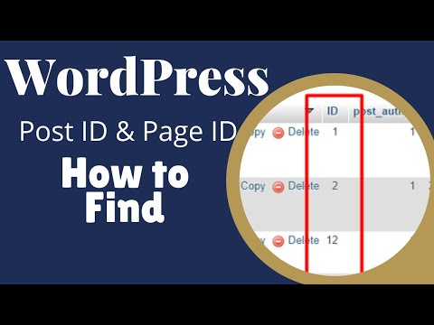 Post id, Page id - How to Find in WordPress