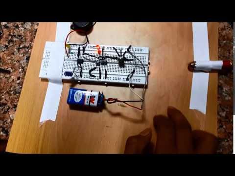 Laser Light Security Alarm Circuit