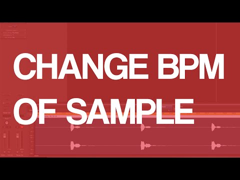 How To Change BPM Of Sample In Logic Pro X Tutorial