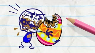 Pencilmate Discovers a Terrible Secret! -in- EASTER EGG-SCAPADE - Pencilmation Cartoons for Kids