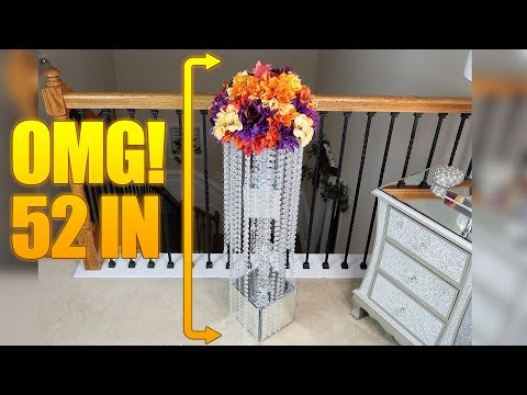 How to DIY A Dollar Tree Upscale 50 – Inch Mirrored Chandelier Aisle Riser