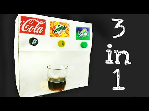How to Make Coca Cola Soda Fountain Machine step by step with 3 Different Drinks at Home