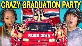 TEENS REACT TO CRAZY NORWAY HIGH SCHOOL GRADUATION PARTIES (Russefeiring)