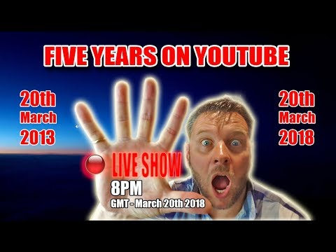 5 years on YouTube (Live Stream)
