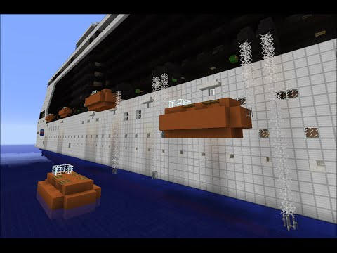 How Cruise Ship Lifeboats Work - Minecraft Demonstration