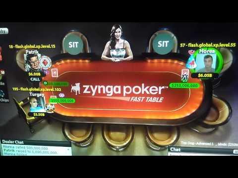 Zynga poker 250M/500M