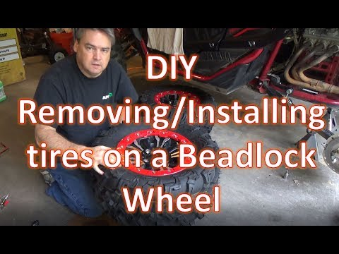 DIY   Removing and Installing Tires on a Beadlock Rim