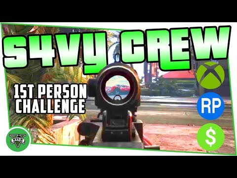 XB1 S4VY CREW - Grand Theft Auto Online Live - SURVIVAL 1st PERSON CHALLENGE