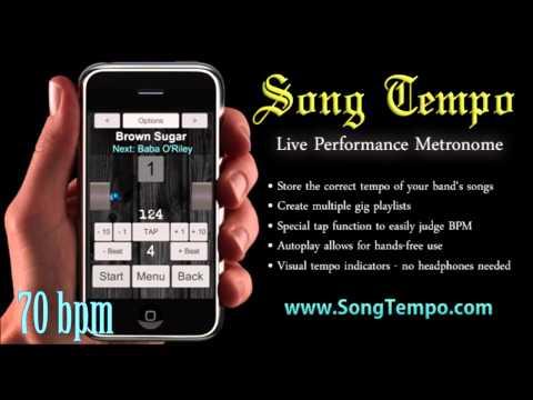 70 BPM Metronome - 10 Minutes Click Track - www.SongTempo.com