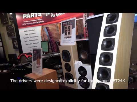 Dayton Audio Epique CBT24K Line Array Speakers at AXPONA 2017