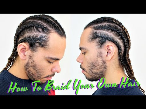 Tutorial How To Braid / Cornrow Your Own Hair / Protective Style For Curly Hair / Men Boxer Braids