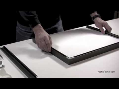 How to assemble metal frames