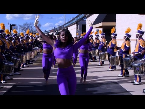 Miles College Marching Band - Marching In - 2016