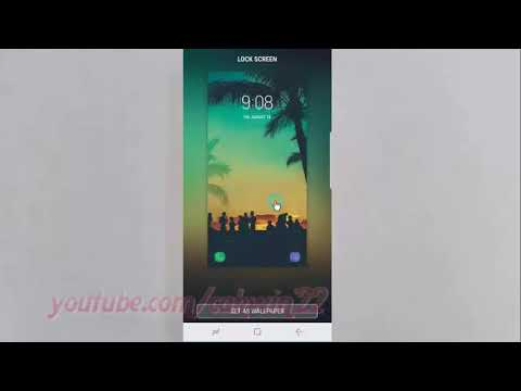 Android Nougat : How to Change Lock Screen Wallpaper on Samsung Galaxy S8 or S8+