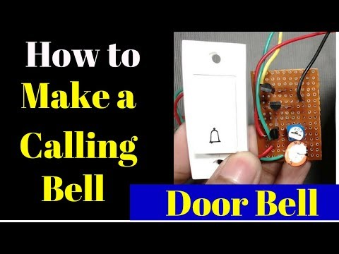 how to make a calling bell at home | plug and play homemade doorbell