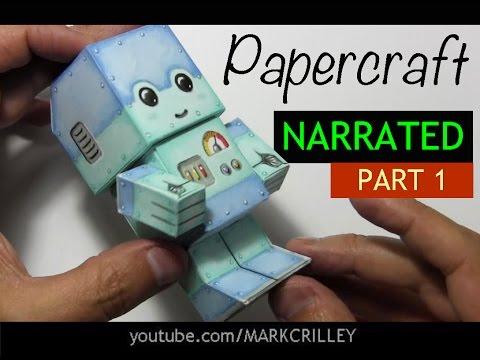 How to Make a Paper Craft Chibi Robot: PART 1