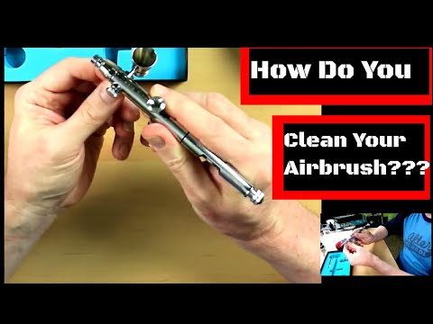 How to Assemble and disassemble to Clean the Iwata Eclipse HP-SBS airbrush 2018