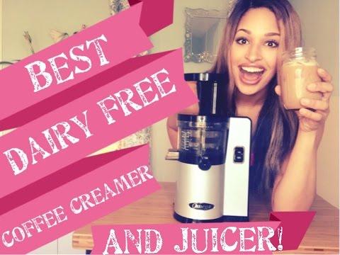 The Best Dairy Free Coffee Creamer/ Best nut milk  and Best juicer! Omega VERT Slow Juicer VSJ843QS