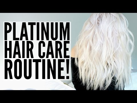 MY PLATINUM HAIR CARE ROUTINE! + KEEPING IT HEALTHY! ♡