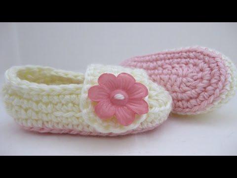 Crochet Baby Booties Pattern 3-6 Months 💓 ᴴᴰ █▬█