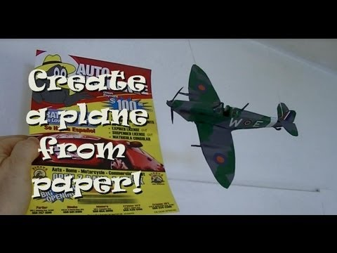 Building a realistic Looking Supermarine Spitfire out of paper - A different kind of Paper Airplane!