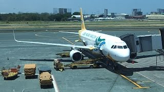 Cebu Pacific Air A320 Manila to Puerto Princesa Palawan Island