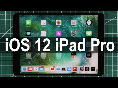 iOS 12 running on iPad Pro - All New Features