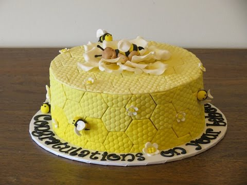 Bumble Bee Baby Shower Cake - Tutorial