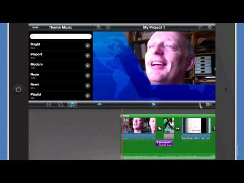 iMovie for iPad - Working with Audio