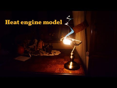 Heat engine model - cool motion science experiment for kids