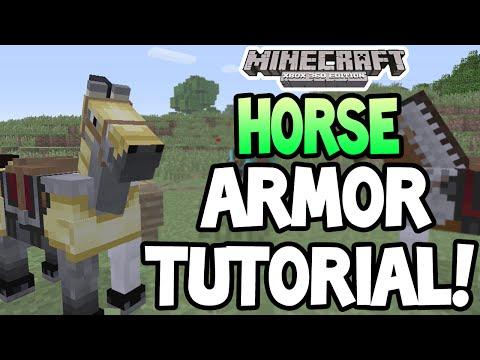 Minecraft (Xbox360/PS3) - TU19 UPDATE! - HORSE ARMOR! - EASY TUTORIAL!