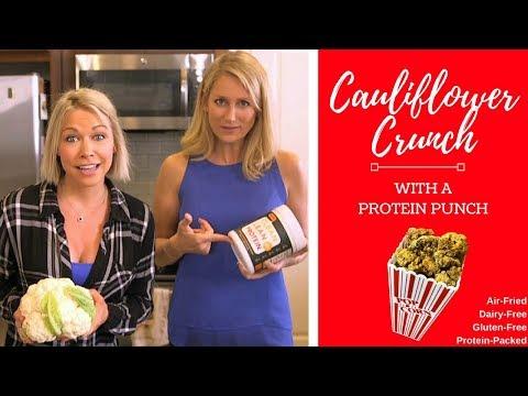 Cauliflower Crunch With A Protein Punch, High Protein Snack