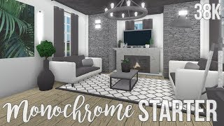 bloxburg house modern story small game mansion pass starter roblox cylito monochrome gamepasses 38k build passes room bedroom