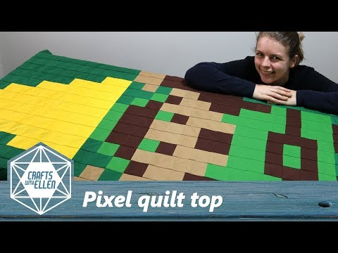 Easy Way To Make A Pixel Quilt Top | Sewing Tutorial