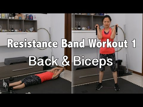 Back & Biceps Resistance Band Superset Circuit Workout