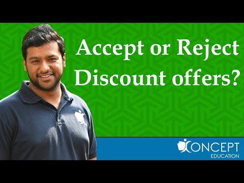 Quantity Discount Offer Accept or Reject ?