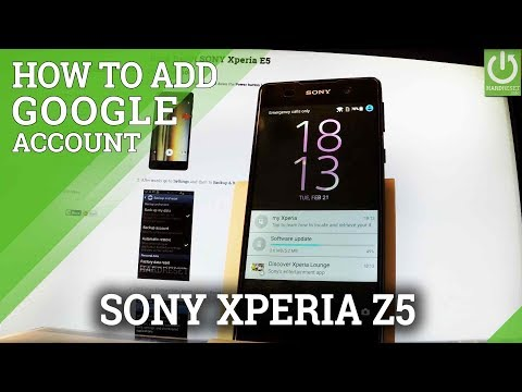 How to Add Google Account in SONY Xperia E5 - Account Settings